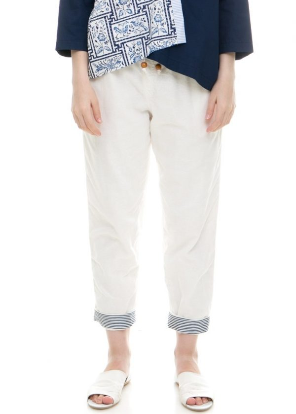 Pencil Basic Pants in White
