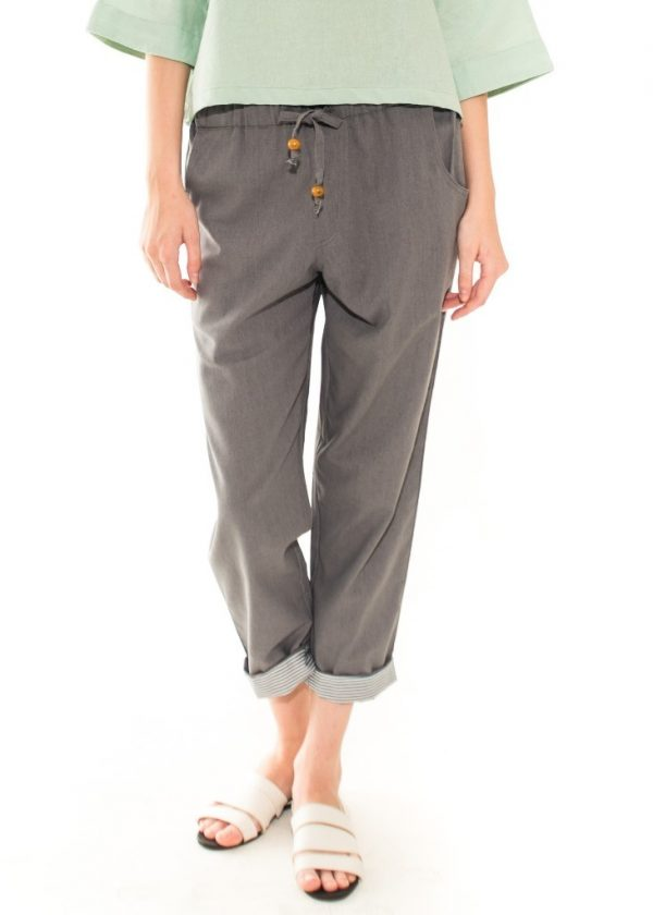 Pencil Basic Pants in Dark Grey