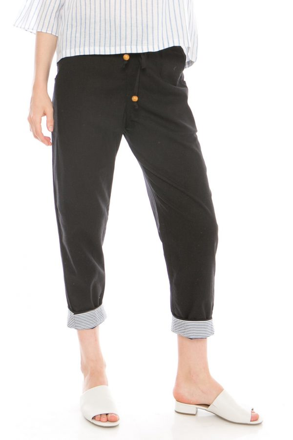 Pencil Basic Pants in Black