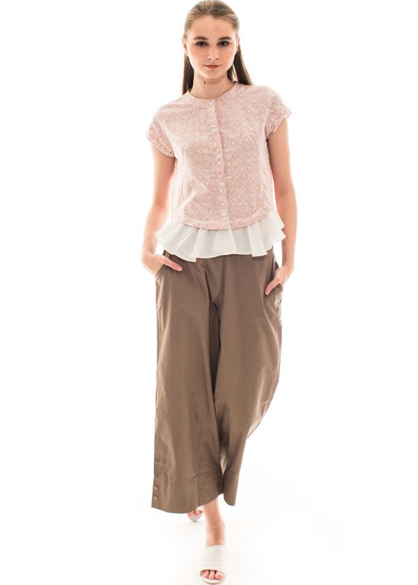 Lula Pants in Dark Brown Beatrice Clothing