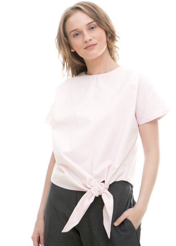 Toko Baju Online Givenni Tied Top in Soft Pink