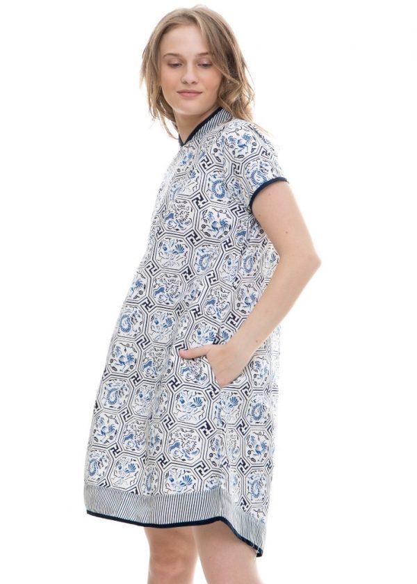 Freya Dress in Zodiac Blue