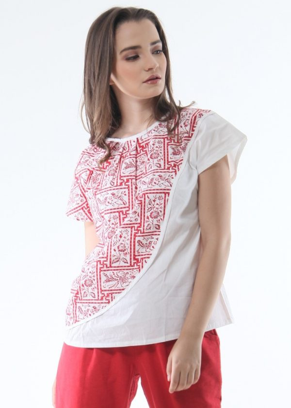 Tomiyo Red Porcelain Top in White