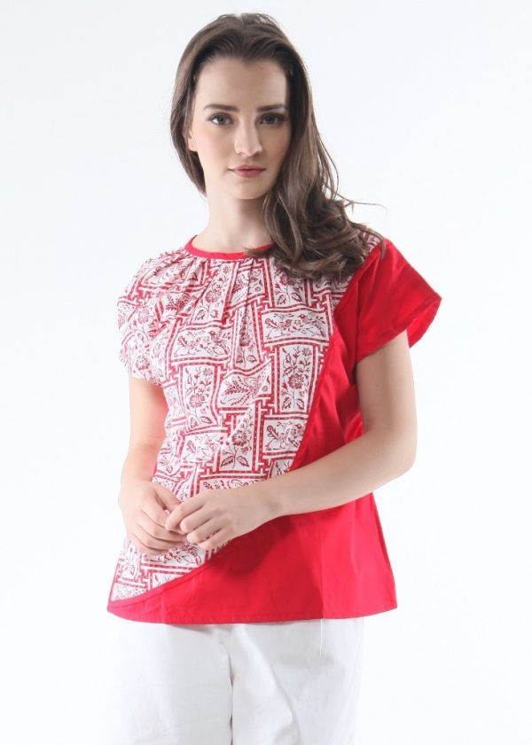 Tomiyo Red Porcelain Top in Red