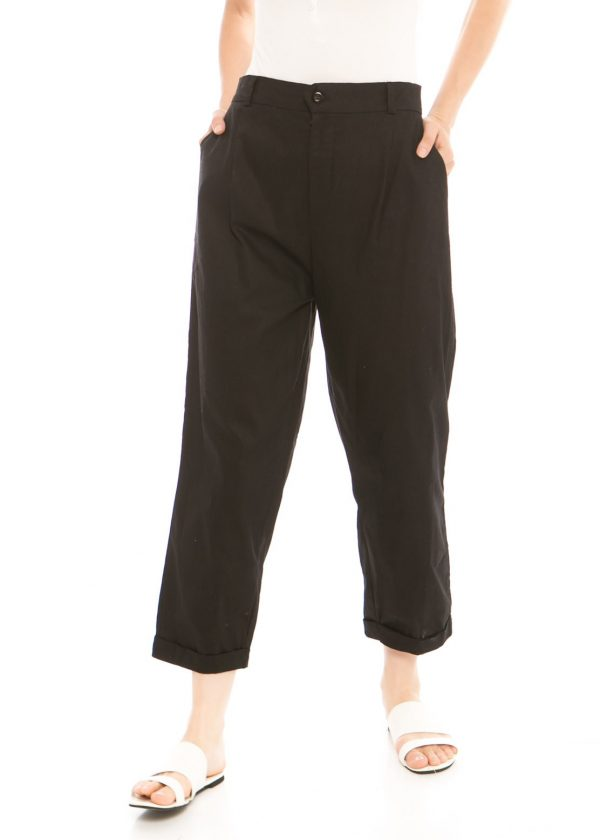 Kama Linen Pants in Black