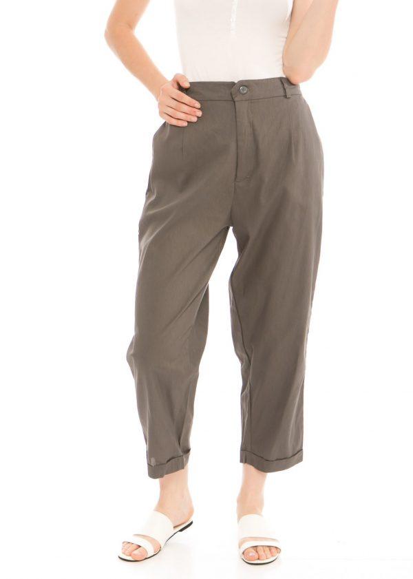 Kama Linen Pants in Dark Grey