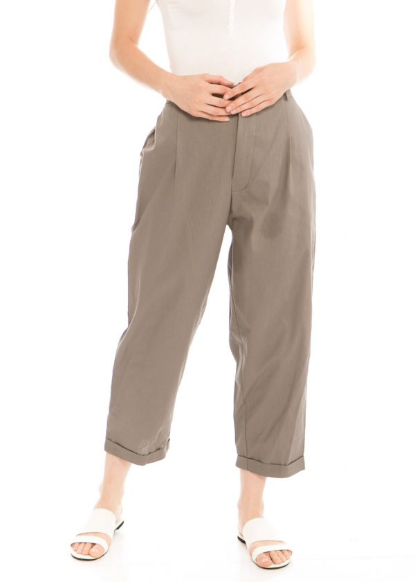 Kama Linen Pants in Olive