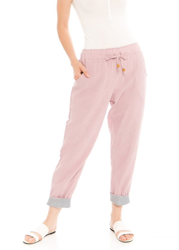 Pencil Basic Pants in Dusty Pink