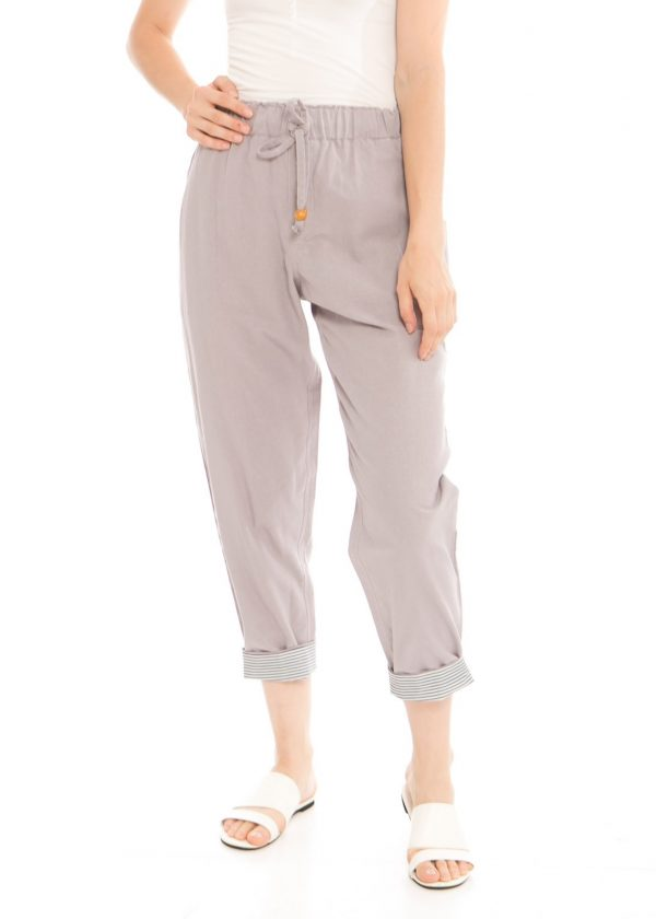 Pencil Basic Pants in Light Grey