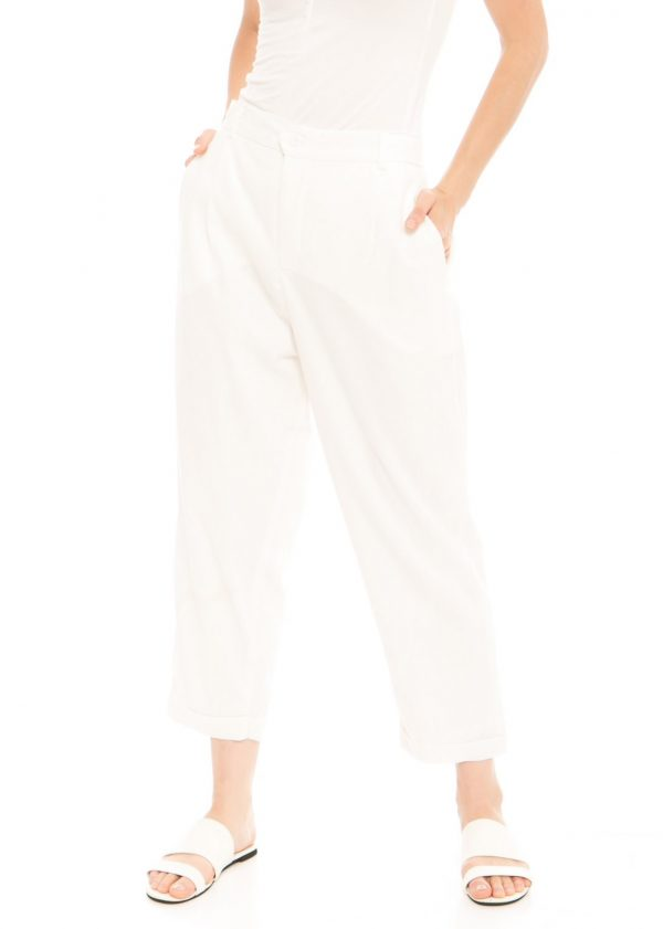 Kama Linen Pants in White