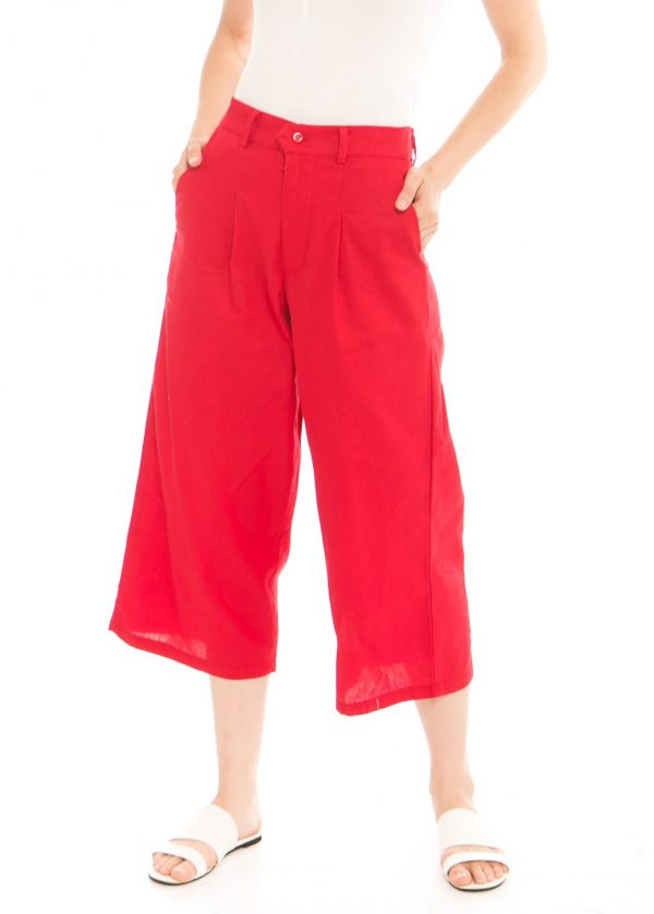 Ananta 7/8 Culotte In Red