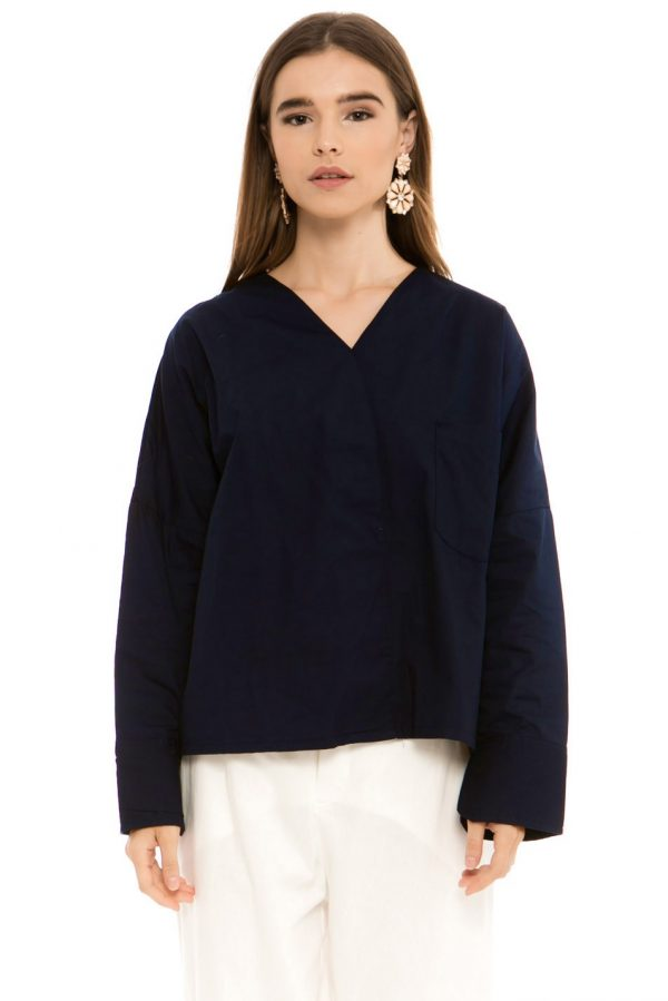 Clair Blouse in Navy