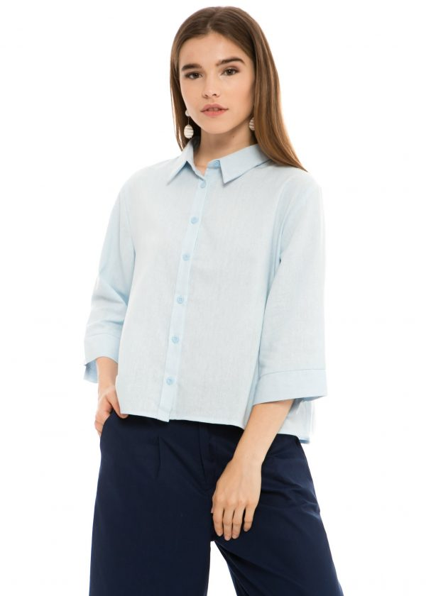 Chloe Blouse in Light Blue