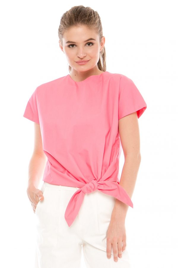 Givenni Tied Top in Rose Pink