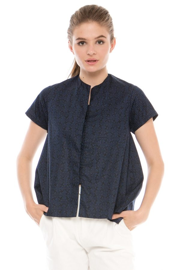Gaura Benji Blouse in Navy Blue