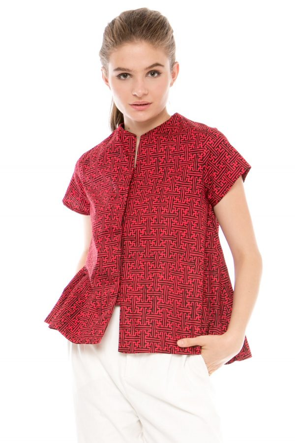 Gaura Benji Blouse in Red