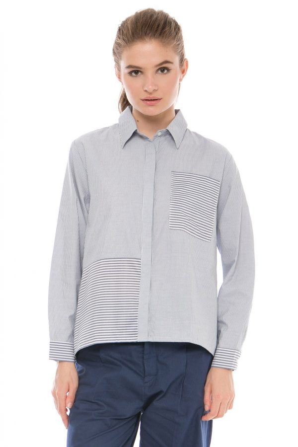 Havana Blouse in Grey