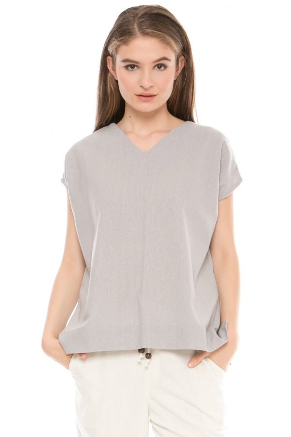 Kendal Blouse in Grey