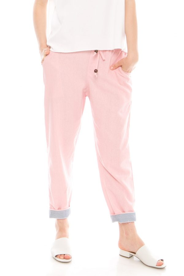 Pencil Basic Pants in Soft Pink
