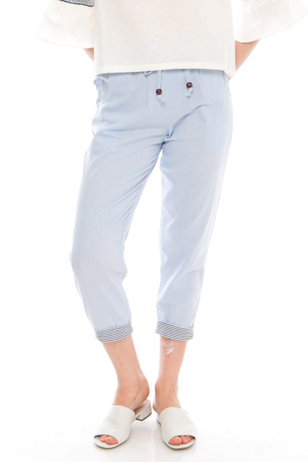 Pencil Basic Pants in Soft Blue