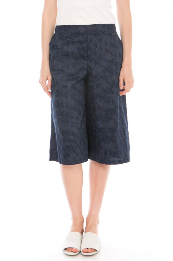 7/8 Straight Benji Culottes In Navy