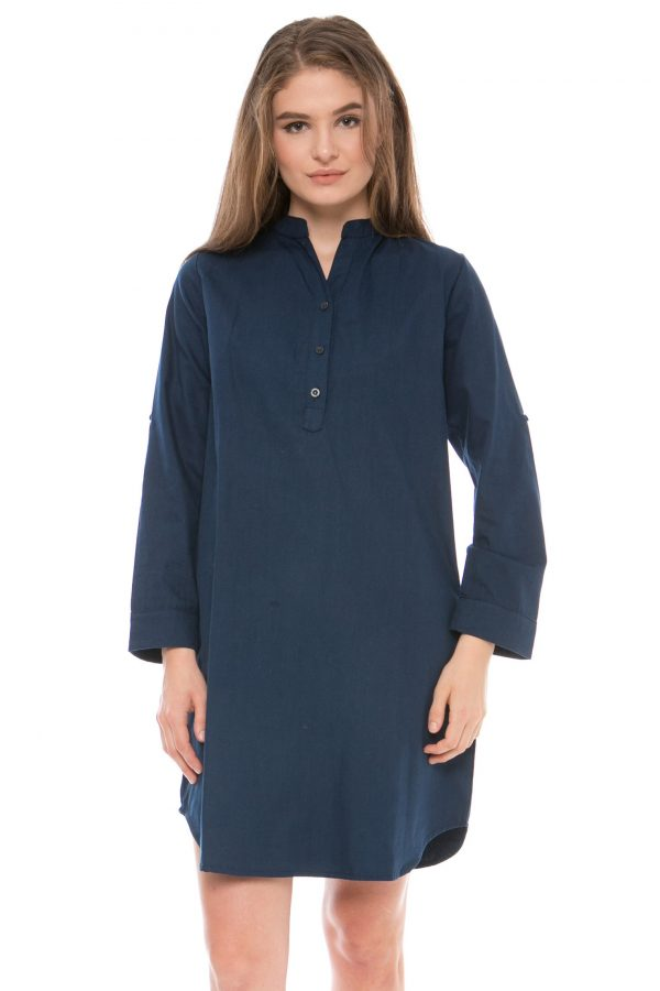 Samasta Tunik Dress in Navy