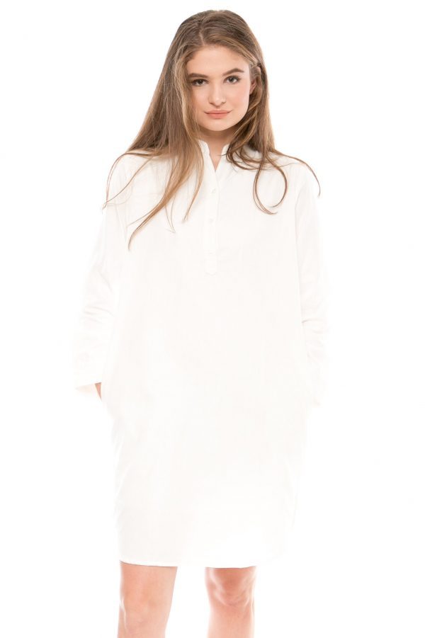 Samasta Tunik Dress in White