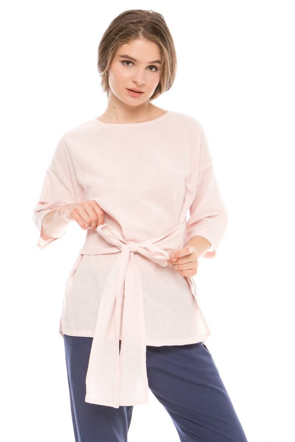 Kayana Bow Top in Soft Pink
