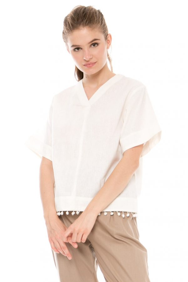 Vimala Blouse in White