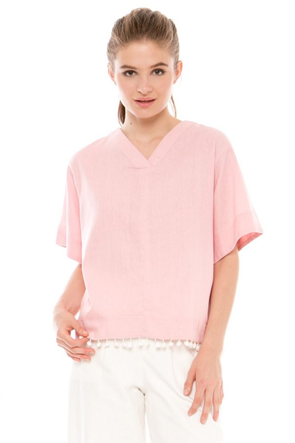 Vimala Blouse in Soft Pink