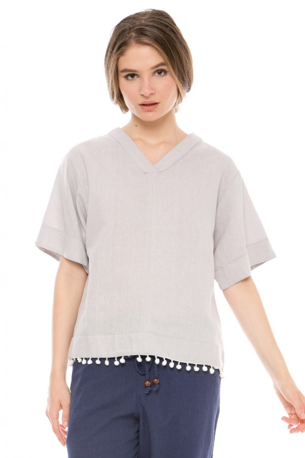 Vimala Blouse in Grey