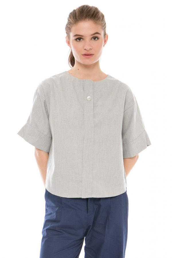 Vanessa Blouse in Grey