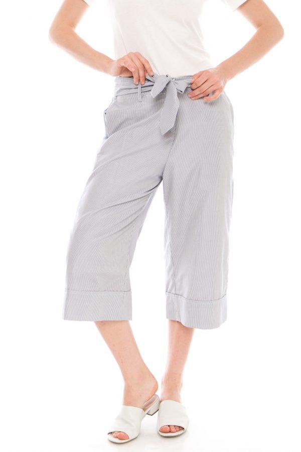 Komeka Stripe Culottes in Stripe Grey