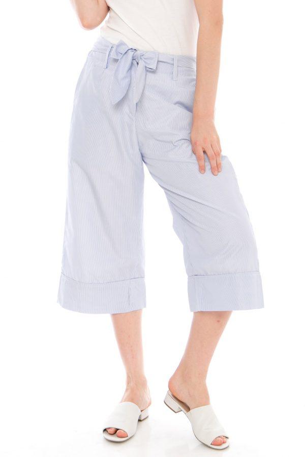 Komeka Stripe Culottes in Stripe Blue