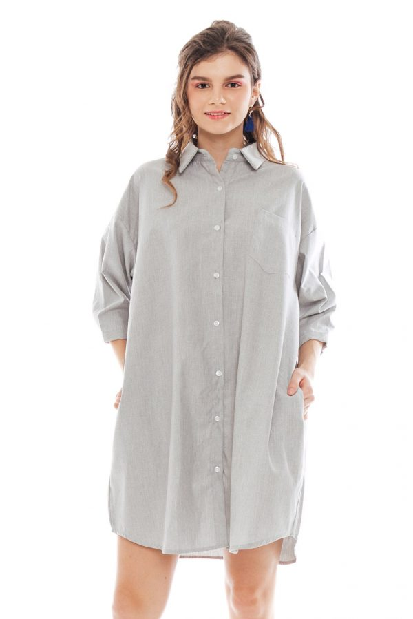 Hughes Oversized Dress in Grey