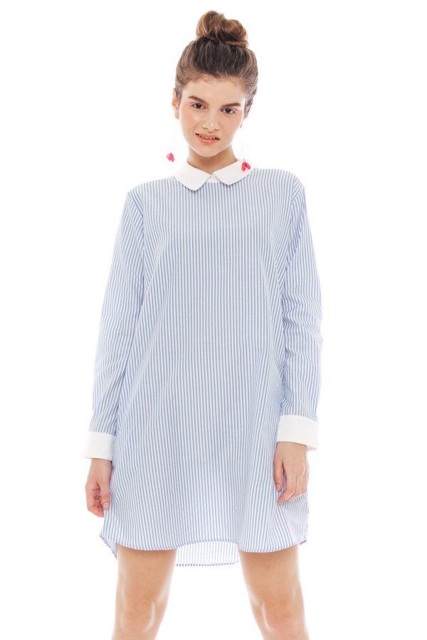 Ayuna Dress in Stripe Blue