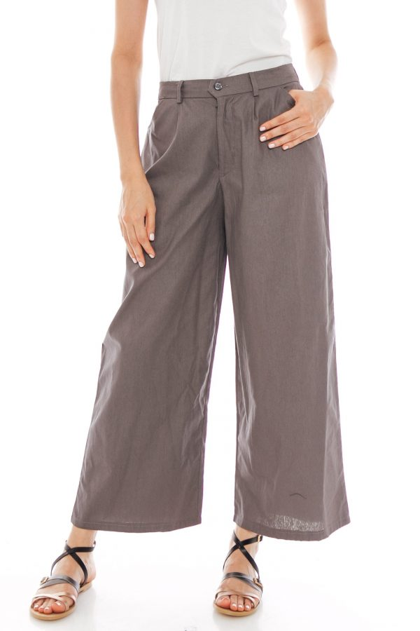 Nesha Linen Pants in Grey
