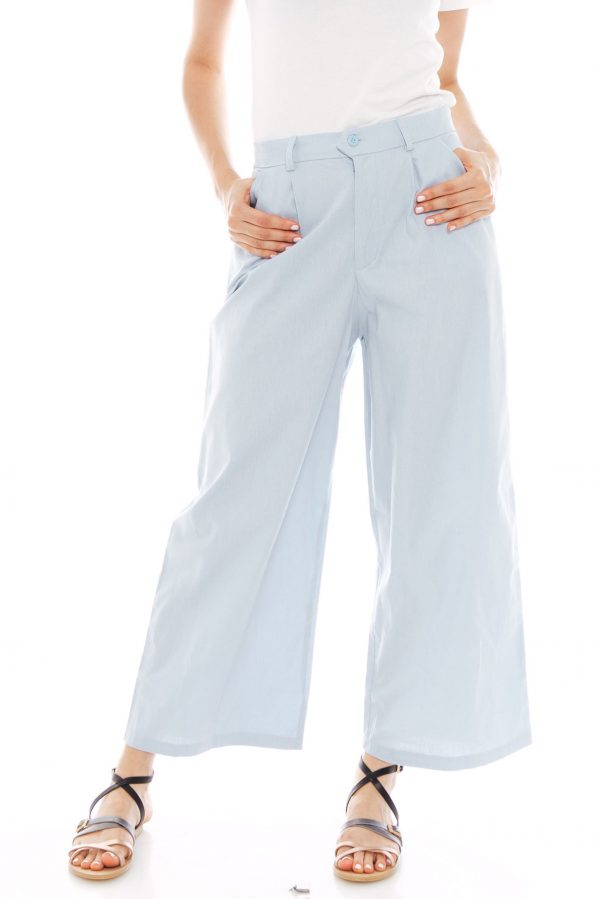 Nesha Linen Pants in Light Blue