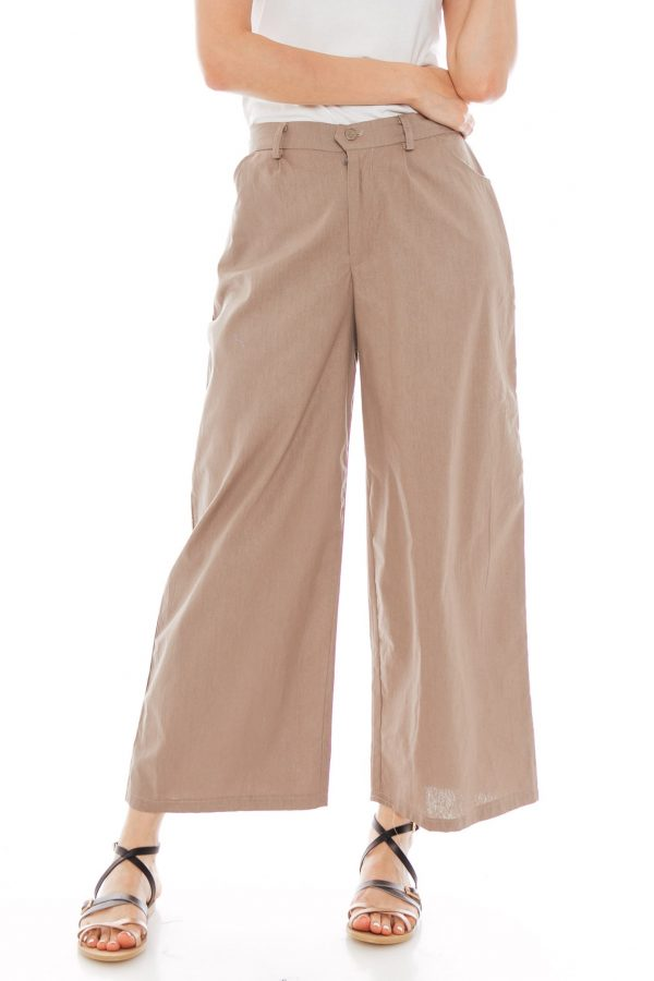 Nesha Linen Pants in Olive