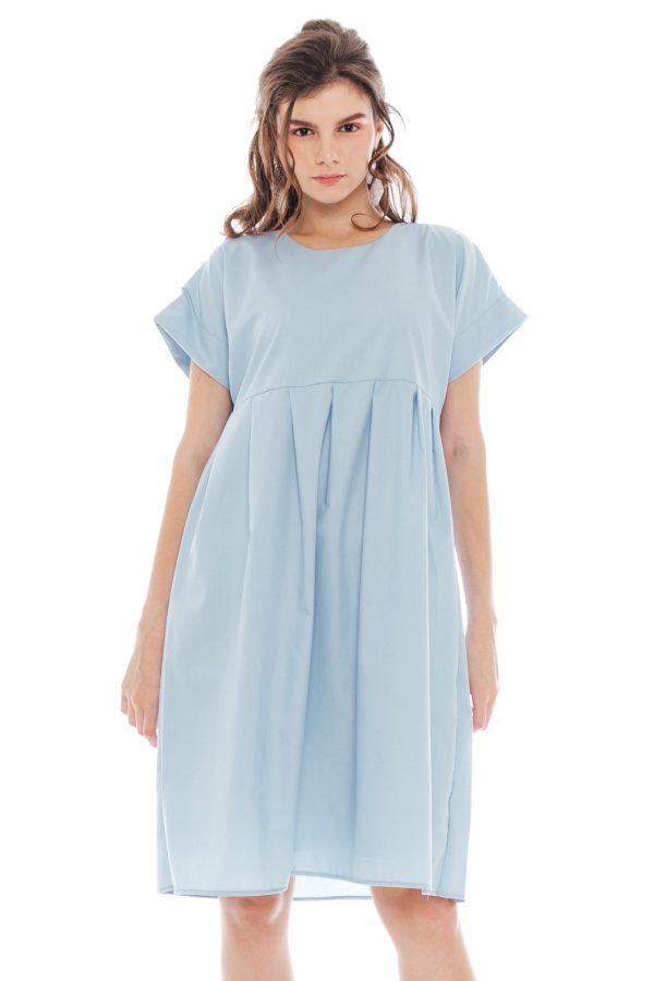 Inessa Dress in Soft Blue