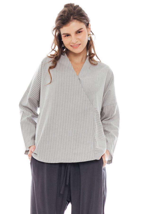 Jennifer Blouse in Grey