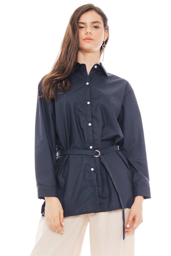 Bianca Shirt in Navy