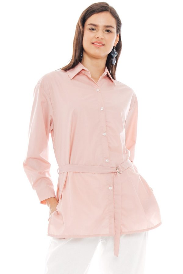 Bianca Shirt in Dusty Pink