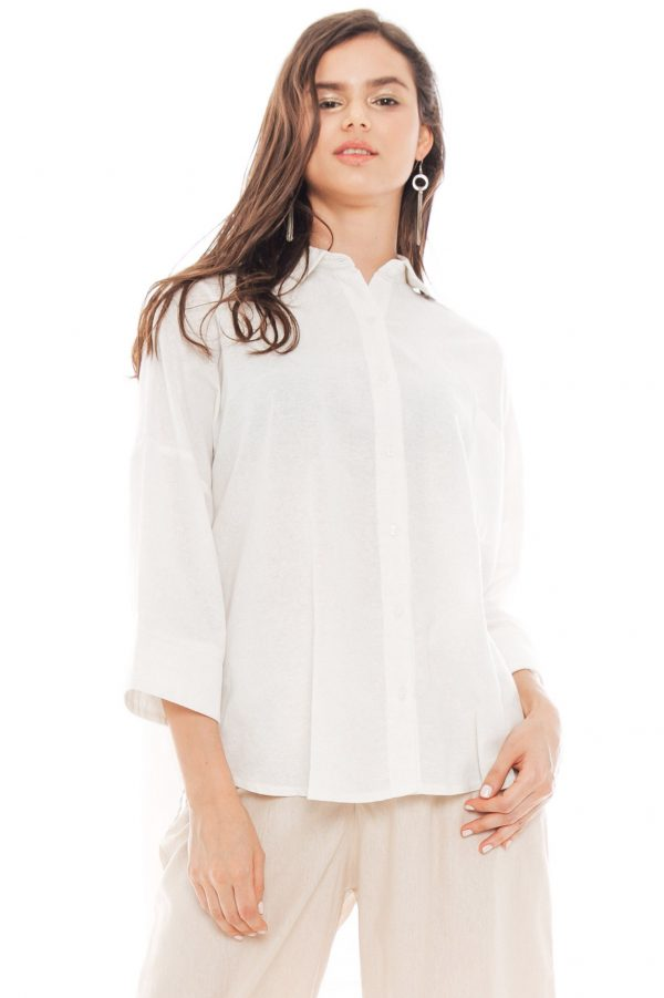 Ioki Linen Top in White